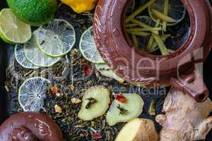 recipe for tea with lime and ginger