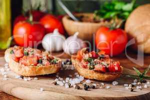 Classic Bruschettas with Tomatoes