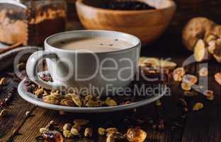 Cup with Spiced Milk Beverage