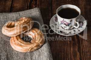 Still Life with Two Eclairs and Cup of Coffee