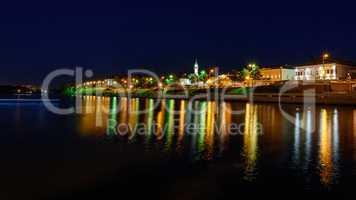 The city of Kazan during a beautiful summer night.
