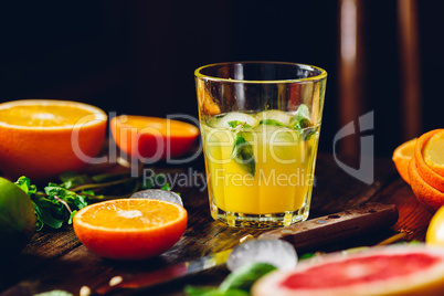Cocktail with Citrus Juice.