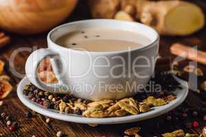 White Cup of Masala Chai