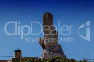 Monument at the viewpoint El Mirador es Colomer on Mallorca