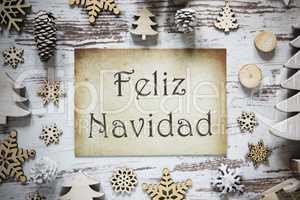 Rustic Decoration, Paper, Feliz Navidad Means Merry Christmas