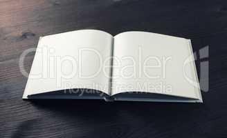 Blank open booklet
