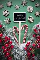 Retro Black Christmas Sign,Lights, Feliz Navidad Means Merry Christmas