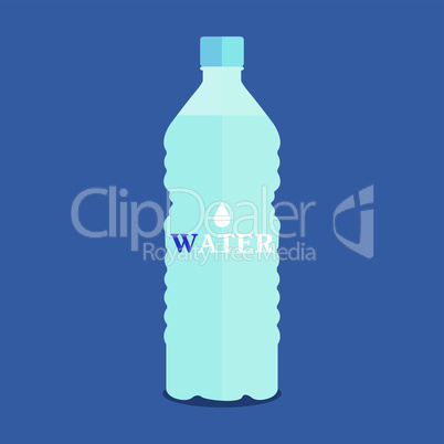 Vector plastic bottle of pure water
