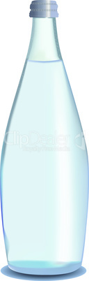 Vector glass bottle of water. Mineral water.