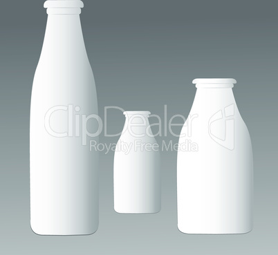 Set of plastic bottles.Template for design product