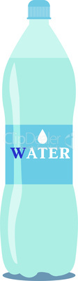 Vector 1 litre bottle of pure water on a white background. EPS 10