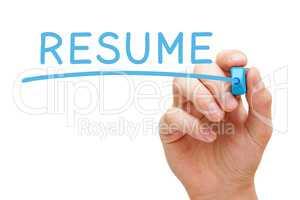 Resume Handwritten With Blue Marker