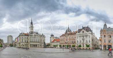 Main square and Church in Novi Sad, Serbia