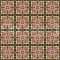 Red-yellow spanish tiles pattern