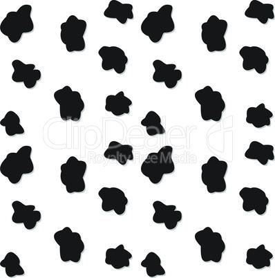 Black spots seamless pattern