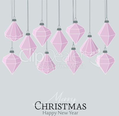 Diamond Christmas balls