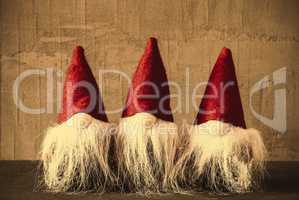 Three Gnomes, Retro Cement, Red Jelly Bag Cap