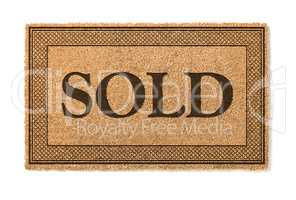 Sold Welcome Mat Isolated On A White Background