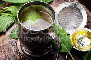 Herbal tea with sage