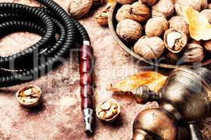 Arabian hookah with walnut