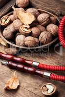 Hookah with autumn walnut