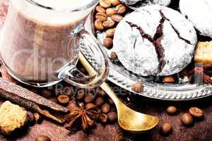 Coffee chocolate cookies