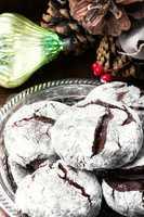 Christmas chocolate cookies
