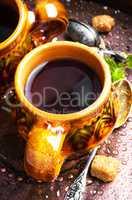 Warm herbal tea