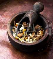 leaves of fruit tea