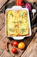 classic dish lasagna