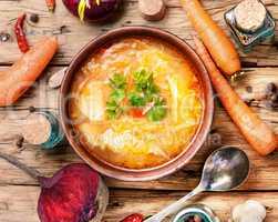 Ukrainian national food-borshch