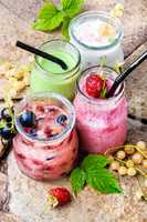Fresh smoothie from currant