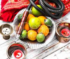 Shisha with taste of lime and tangerines