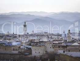 A foggy morning over the medina of Tetouan