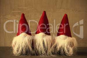 Three Gnomes, Retro Cement, Snowflakes, Jelly Bag Cap