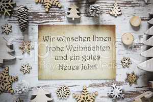 Paper, Gutes Neues Means Happy New Year