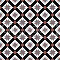 Red-blue spanish tiles pattern