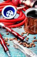 Hookah with aroma coffee
