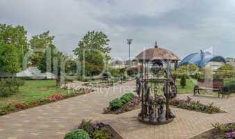 Garden of forged sculptures in Yuzhny city, Ukraine