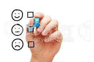Blank Average Customer Survey Evaluation Form