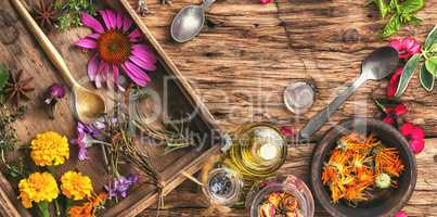 Herbal medicinal herbs and plant
