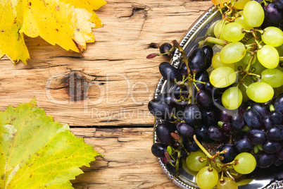 grapes on a tray