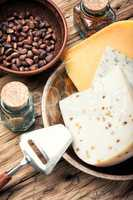 Swiss cheese with cedar nut