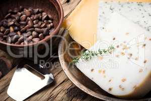 Different kinds of italian cheeses