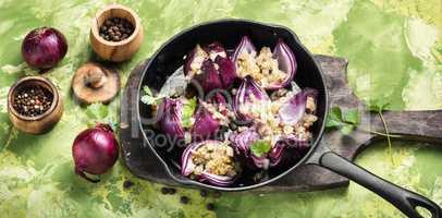 Stuffed onions in Georgian
