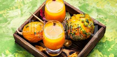Beverage with pumpkins