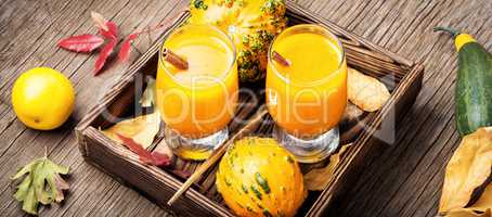 Autumn pumpkin smoothie