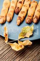Halloween cookies like fingers