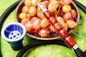 Hookah with aroma grapes