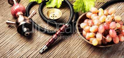 Hookah with autumn grapes